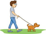 Clip Art Man Walking Dogs Clipart.