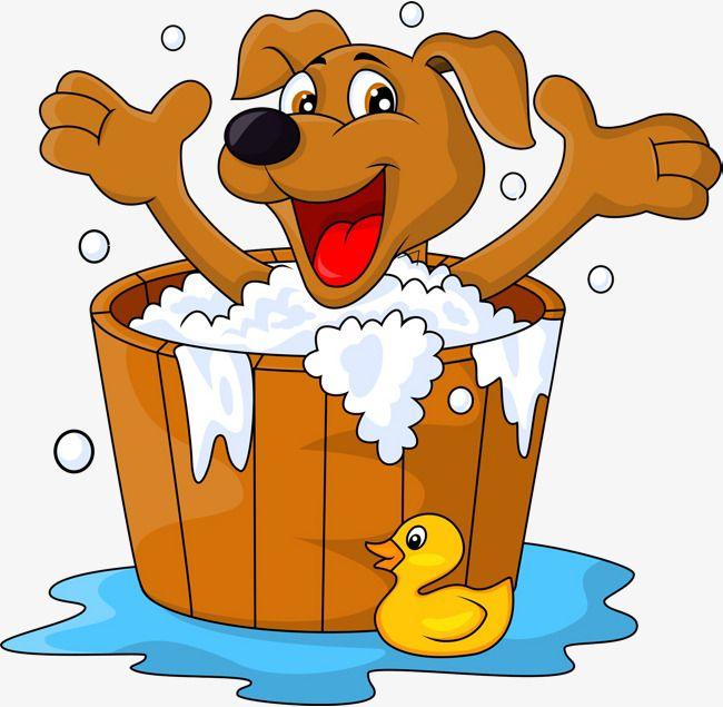 The Bathtub Dogs, Bathtub Clipart, Take A Shower, Bath PNG.