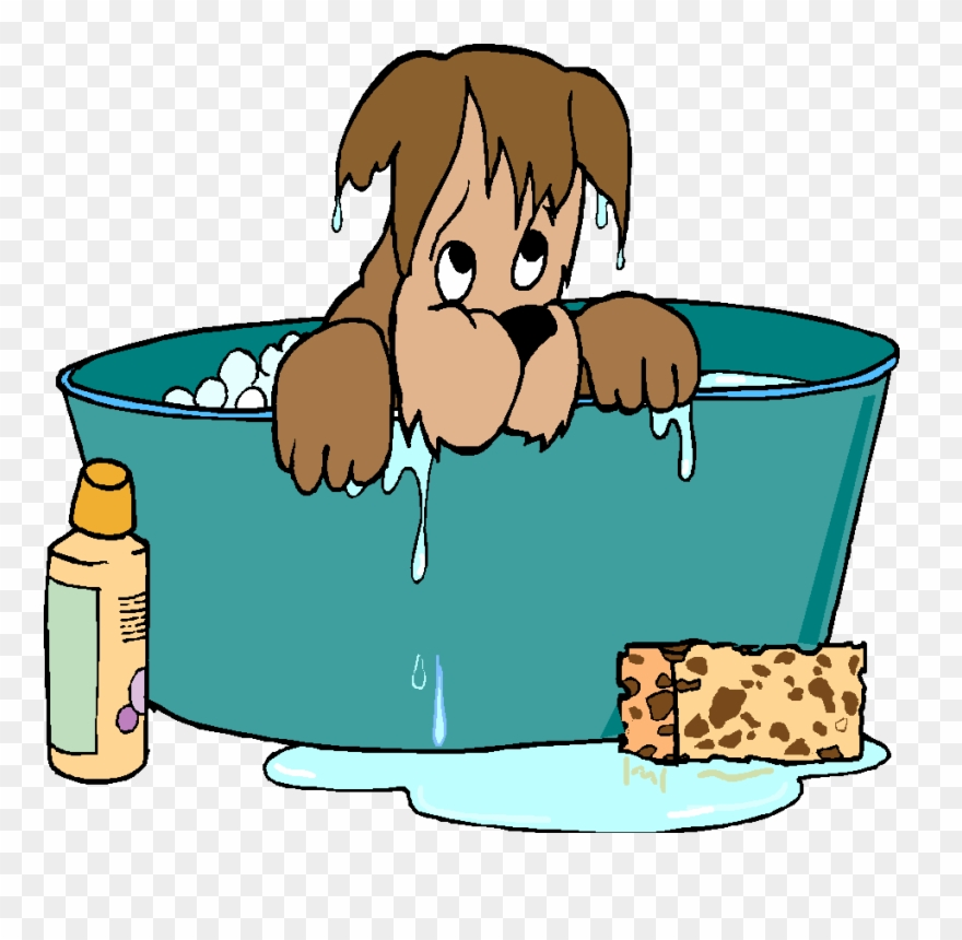 Dog Bath Clipart.