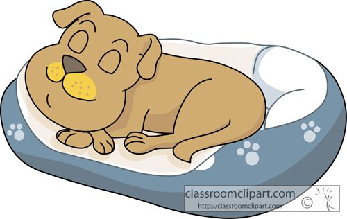 Clip Art Dog Bed Clipart.