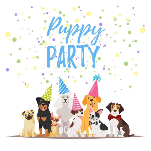 Best Dog Birthday Illustrations, Royalty.