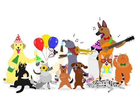 2,407 Dog Birthday Party Stock Illustrations, Cliparts And Royalty.