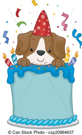Dog birthday party Vector Clipart Illustrations. 1,774 Dog birthday.