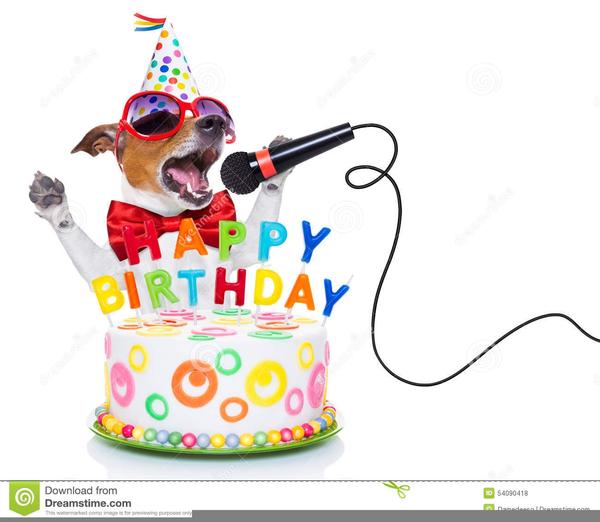 Dog Birthday Cake Clipart.