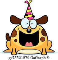Dog Birthday Party Clip Art.