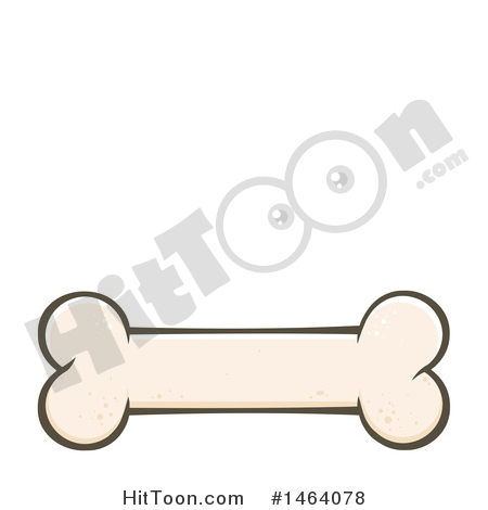 Dog Bone Clipart #1464078: Dog Bone by Hit Toon.