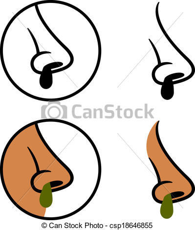 Booger nose clipart.
