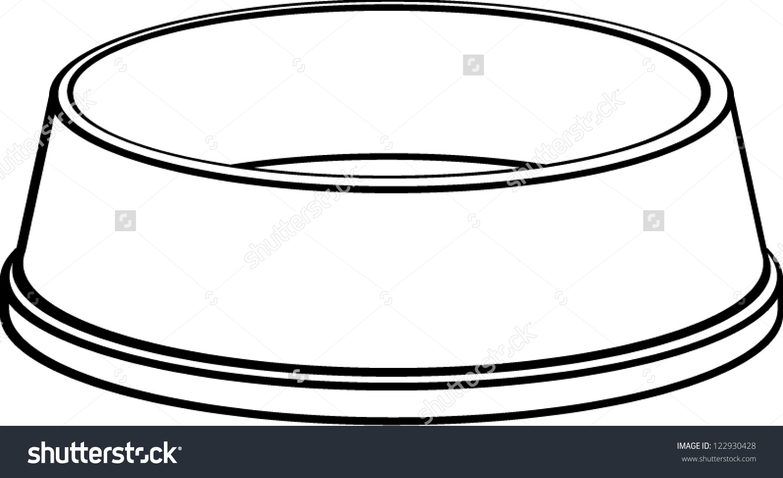 Empty dog bowl clipart.