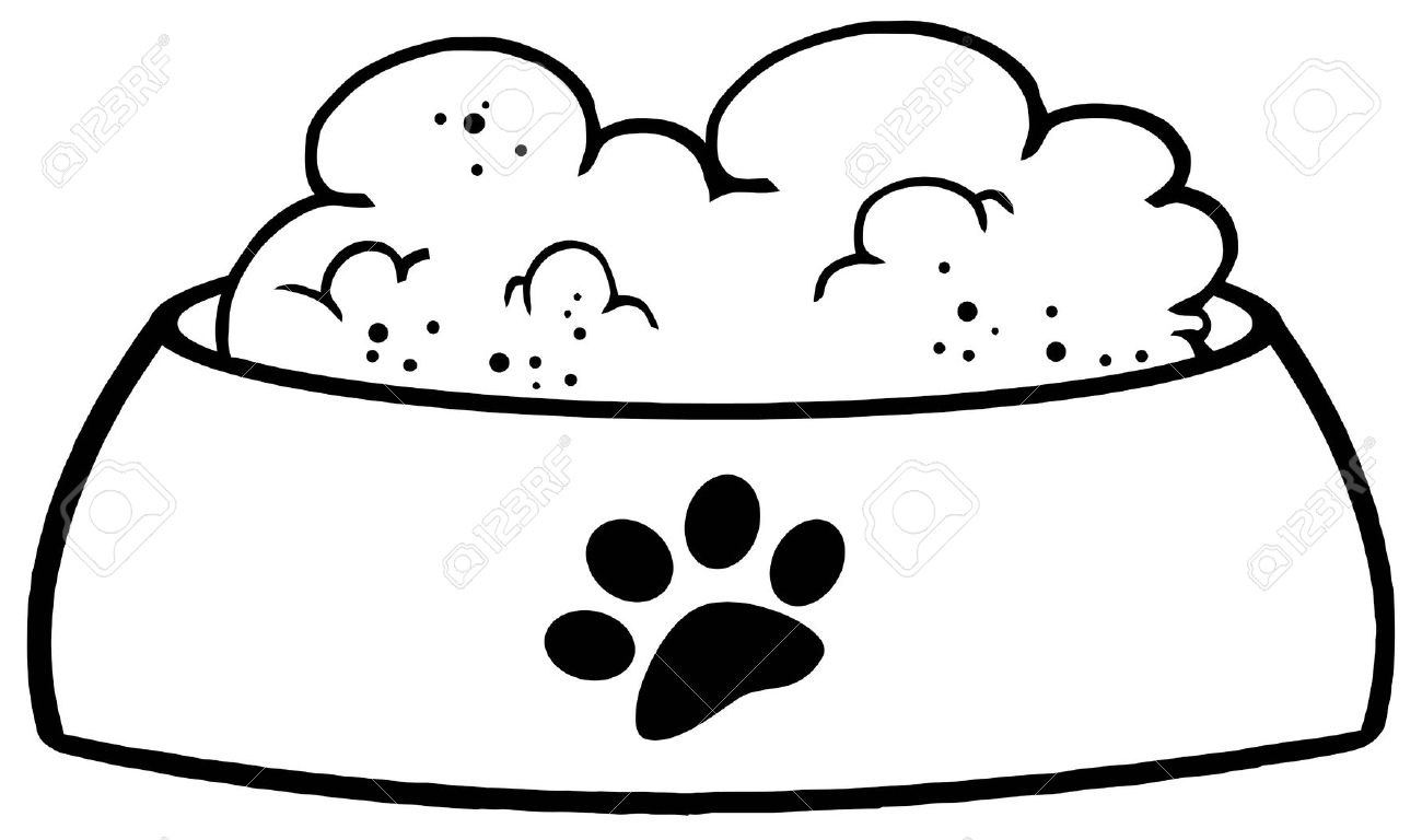 Bowl for food dog clipart.
