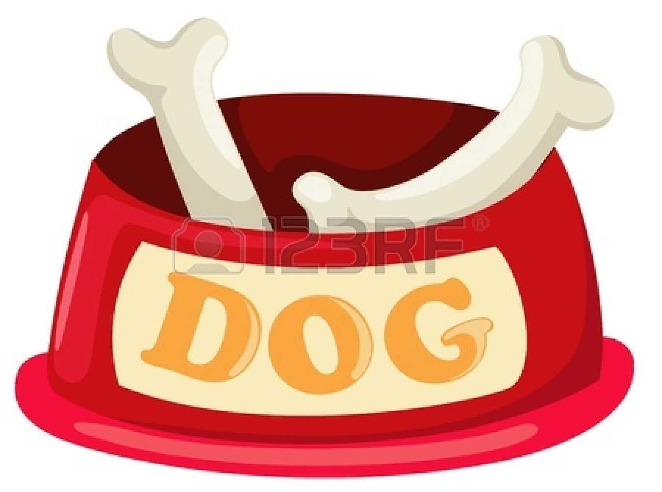 Dog Bowl Clipart.