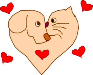 Dog And Cat Heart Clip Art at Clker.com.