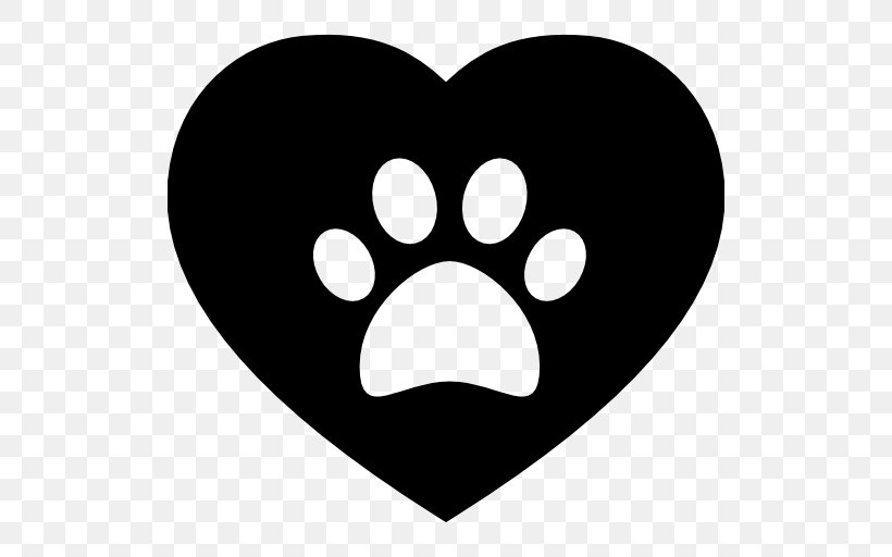 Dog Cat Paw Heart, PNG, 512x512px, Dog, Animal, Animal Track.