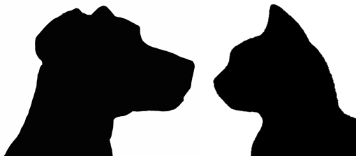 Free Dog And Cat Silhouette, Download Free Clip Art, Free.
