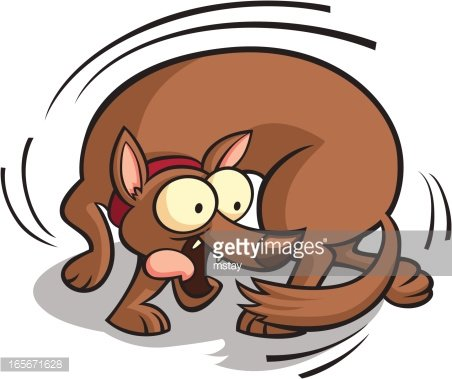 Chasing Tail Clipart Image.