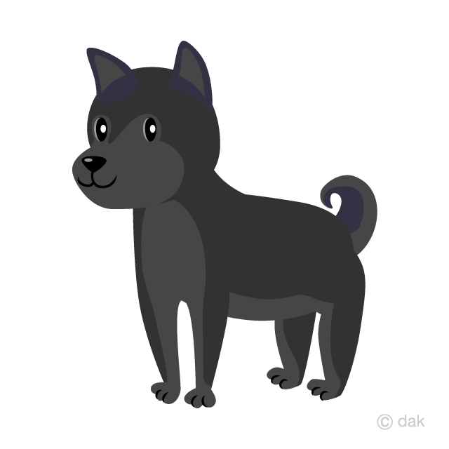 Free Black Dog Clipart Image|Illustoon.