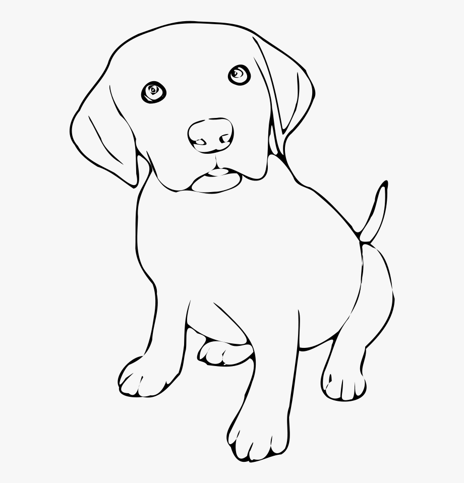 28 Collection Of Dog Clipart Png Black And White.