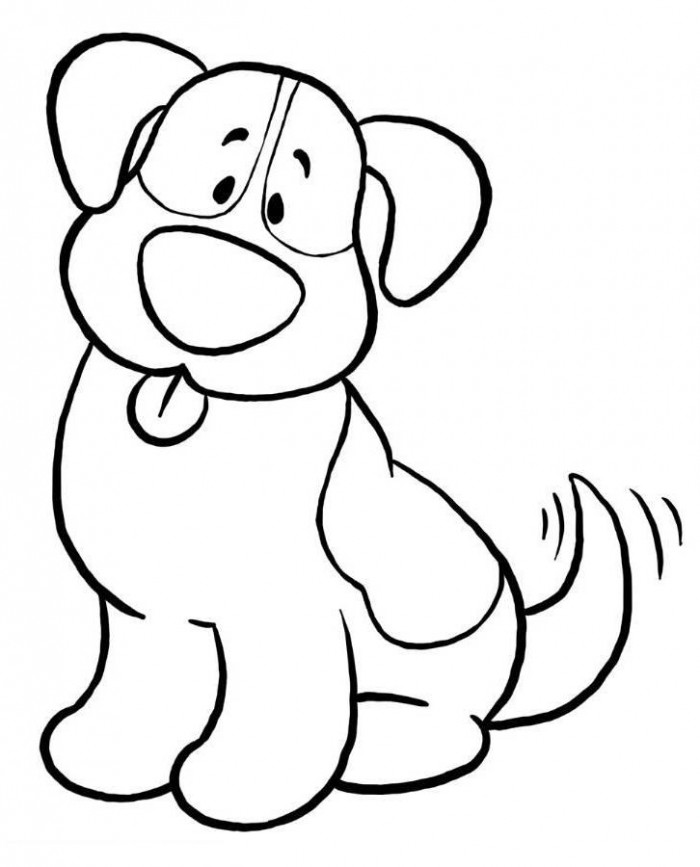 Dog clipart easy to draw.