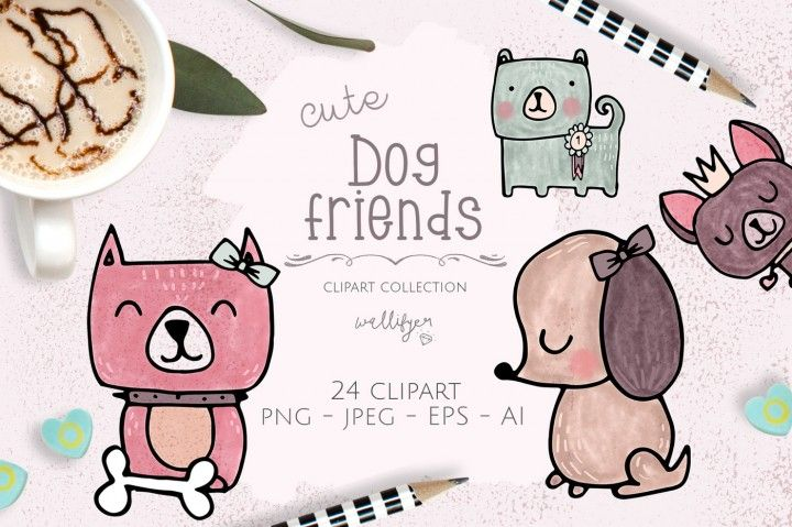 Dog clipart collection By Wallifyer Clipart #affilite #dogs.