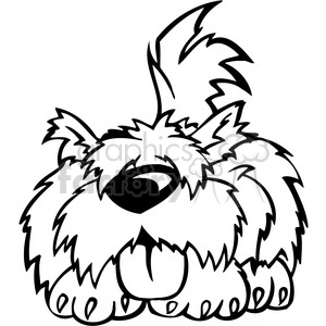 funny cartoon dog clipart . Royalty.