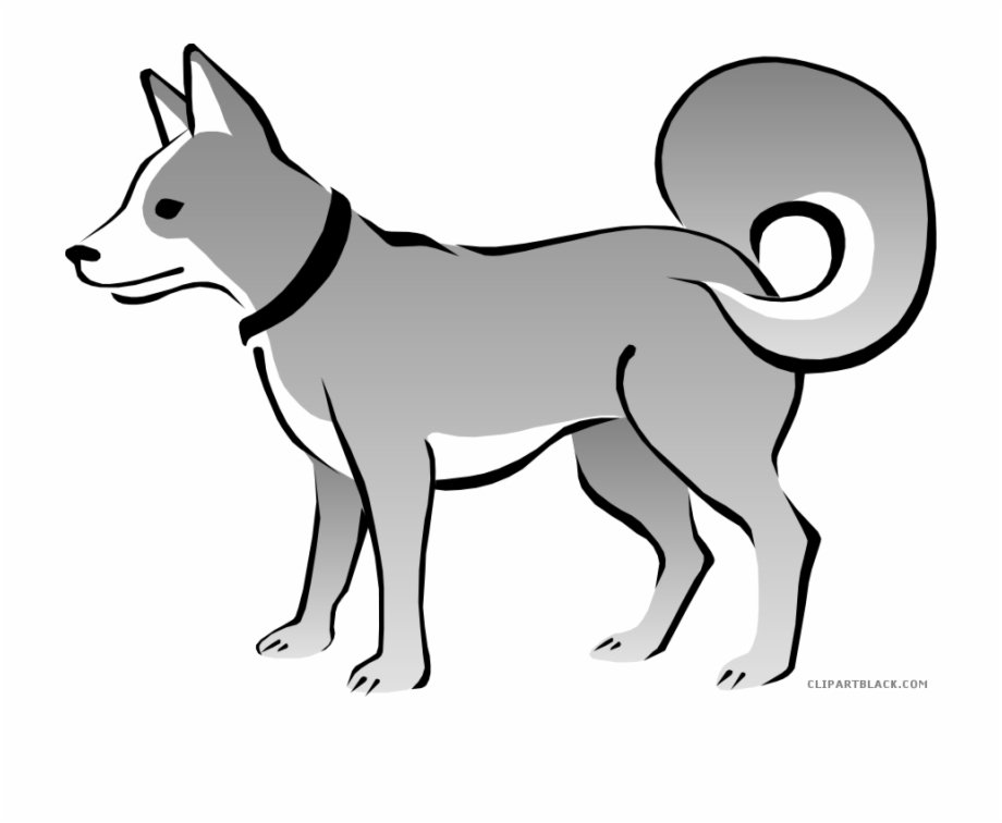 Sad Dog Animal Free Black White Clipart Images Clipartblack.