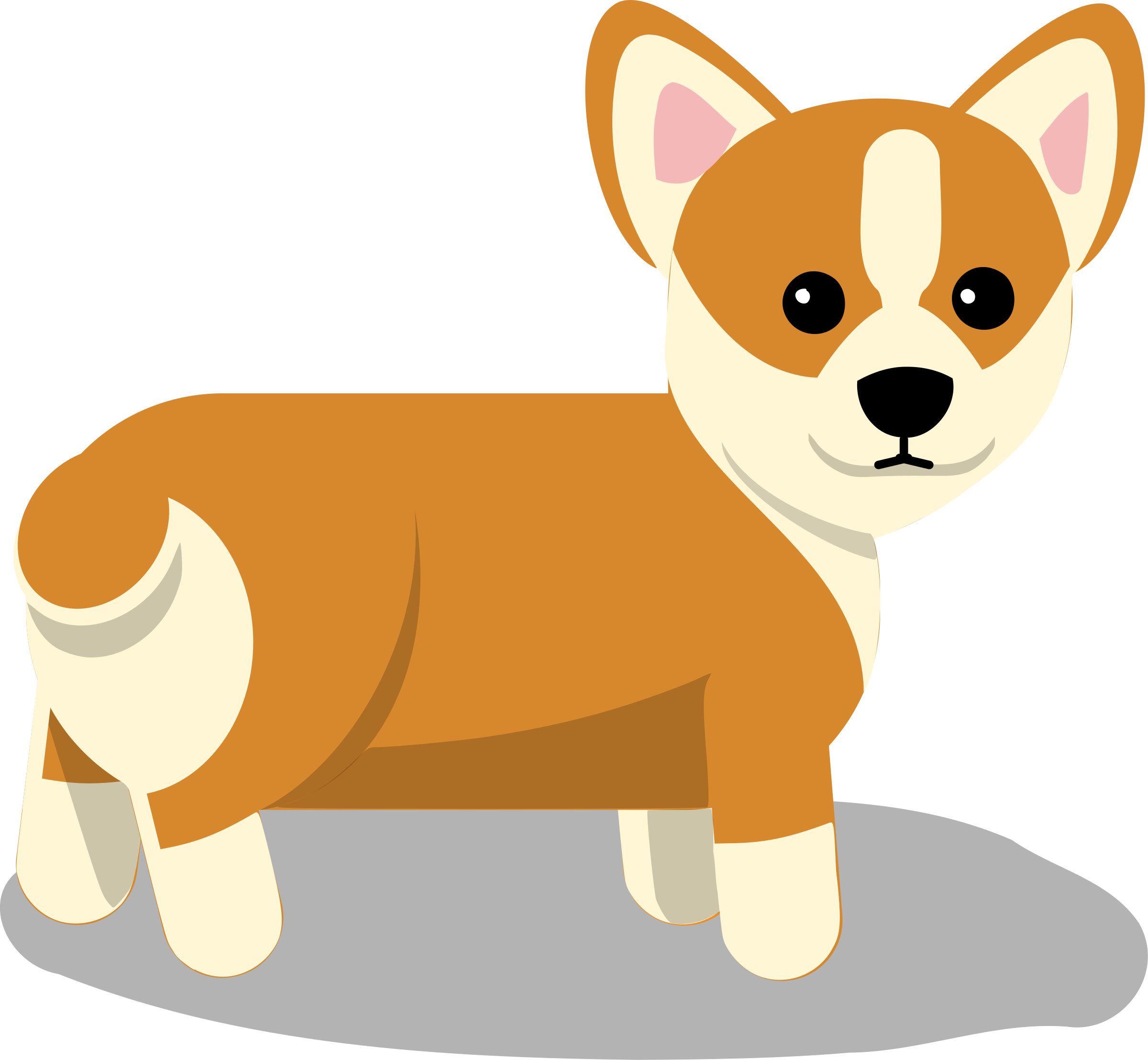 Dog Clipart Vector.