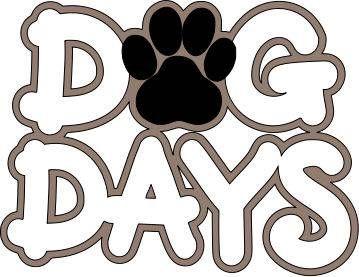 Dog Days title scrapbook clipart pets.