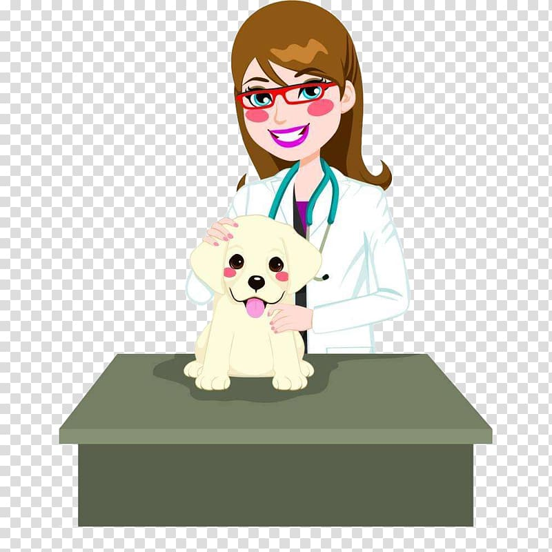 Veterinarian illustration, Dog Cat Veterinarian Illustration.
