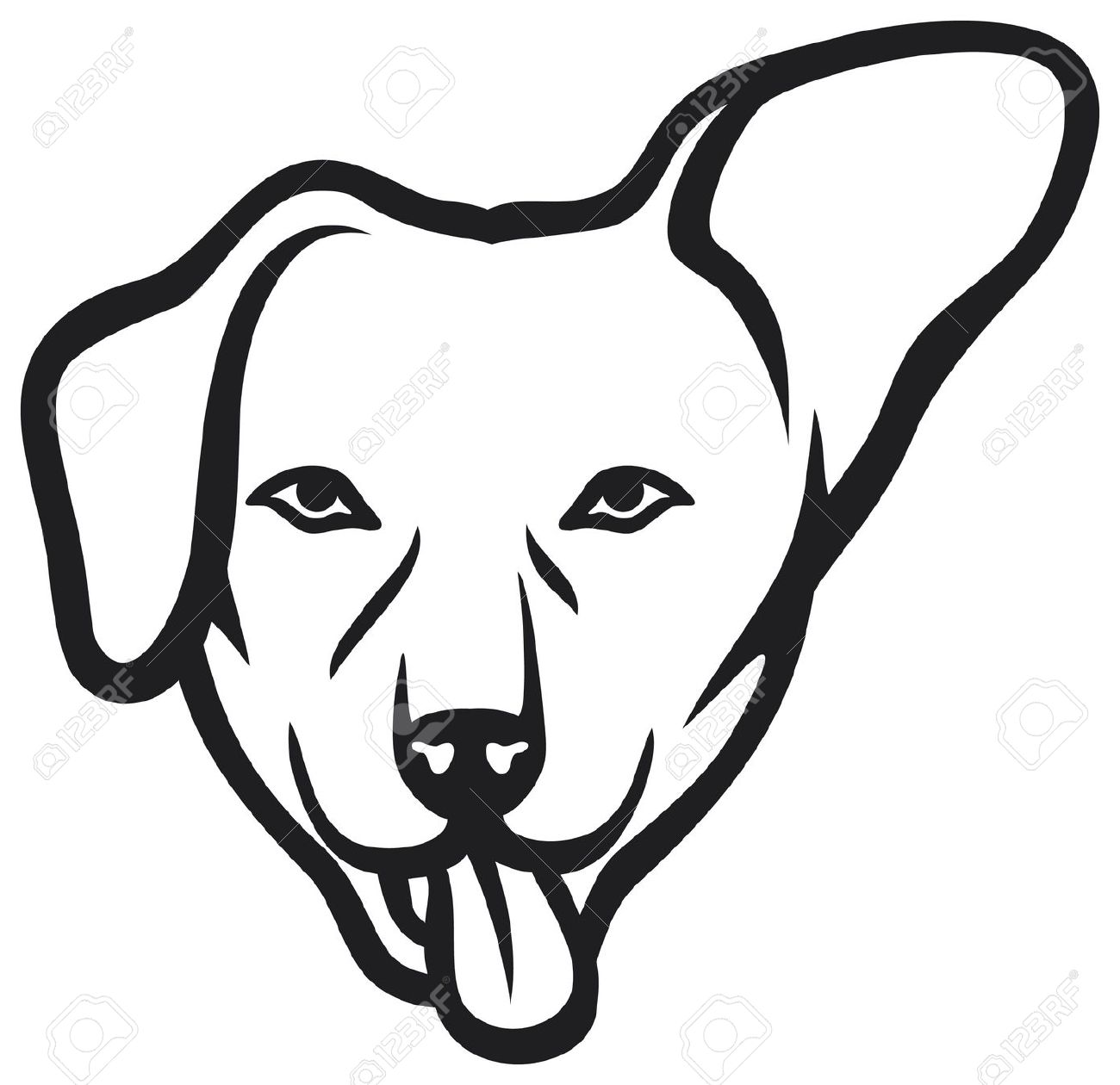 Dog Face Royalty Free Cliparts, Vectors, And Stock Illustration.