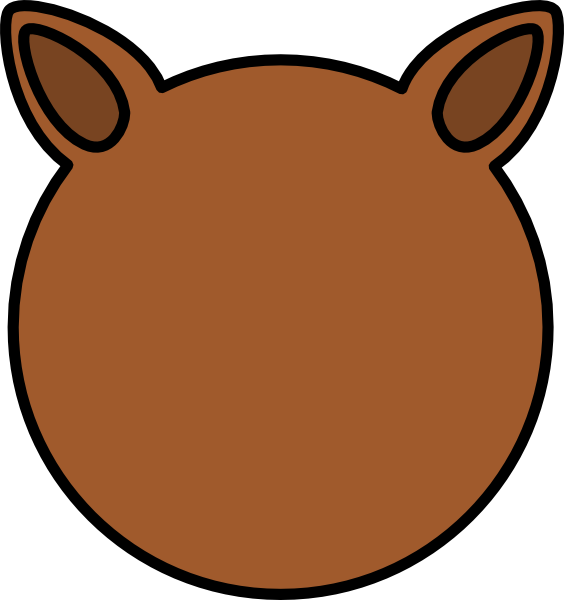 Dog ear clipart.