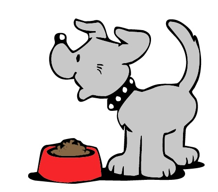 Dog Eating Homework Clipart.