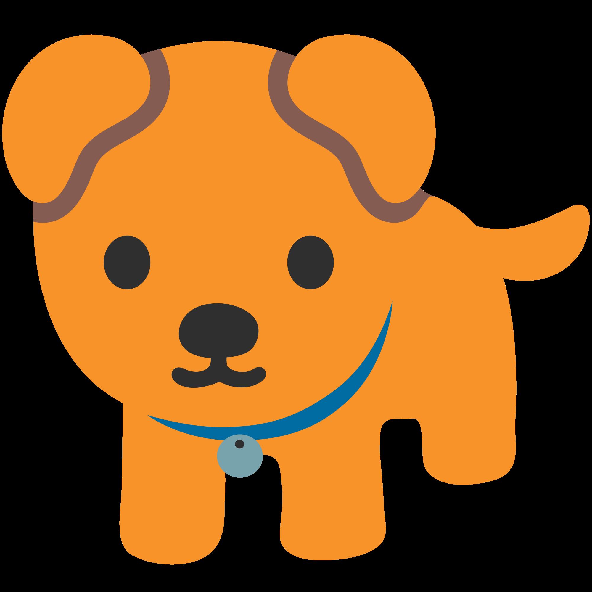 Emoji Dog transparent PNG.