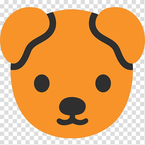 Dog Emoji Puppy Android Sticker, emojis transparent.
