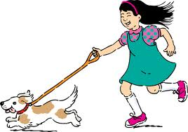 Dog exercise clipart.