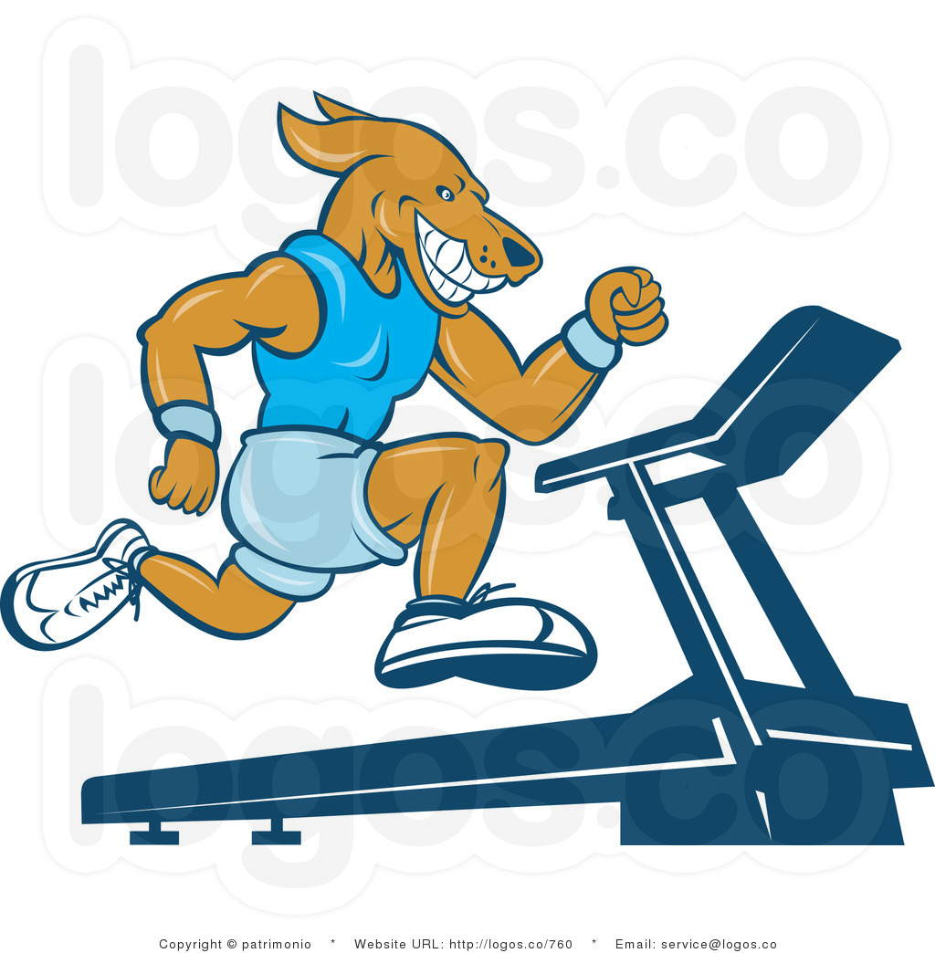 Gallery For > Dog On Treadmill Clipart.