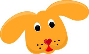 Cute Dog Face Clip Art.