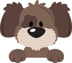 Cute dog face clipart images.