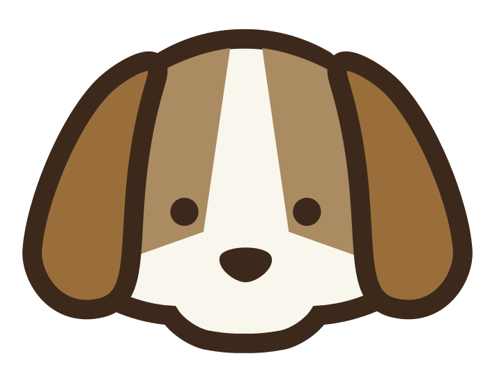 Cute Dog Face Clipart.