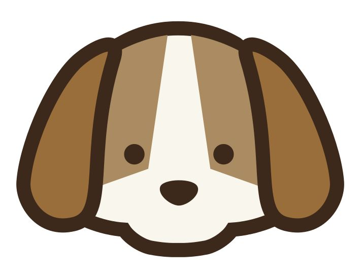 Puppy Dog Face Clipart.