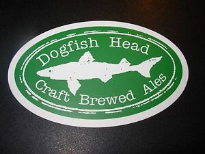 Details about DOGFISH HEAD Oval Shark LOGO STICKER decal craft beer dog  fish 60 90 minute IPA.