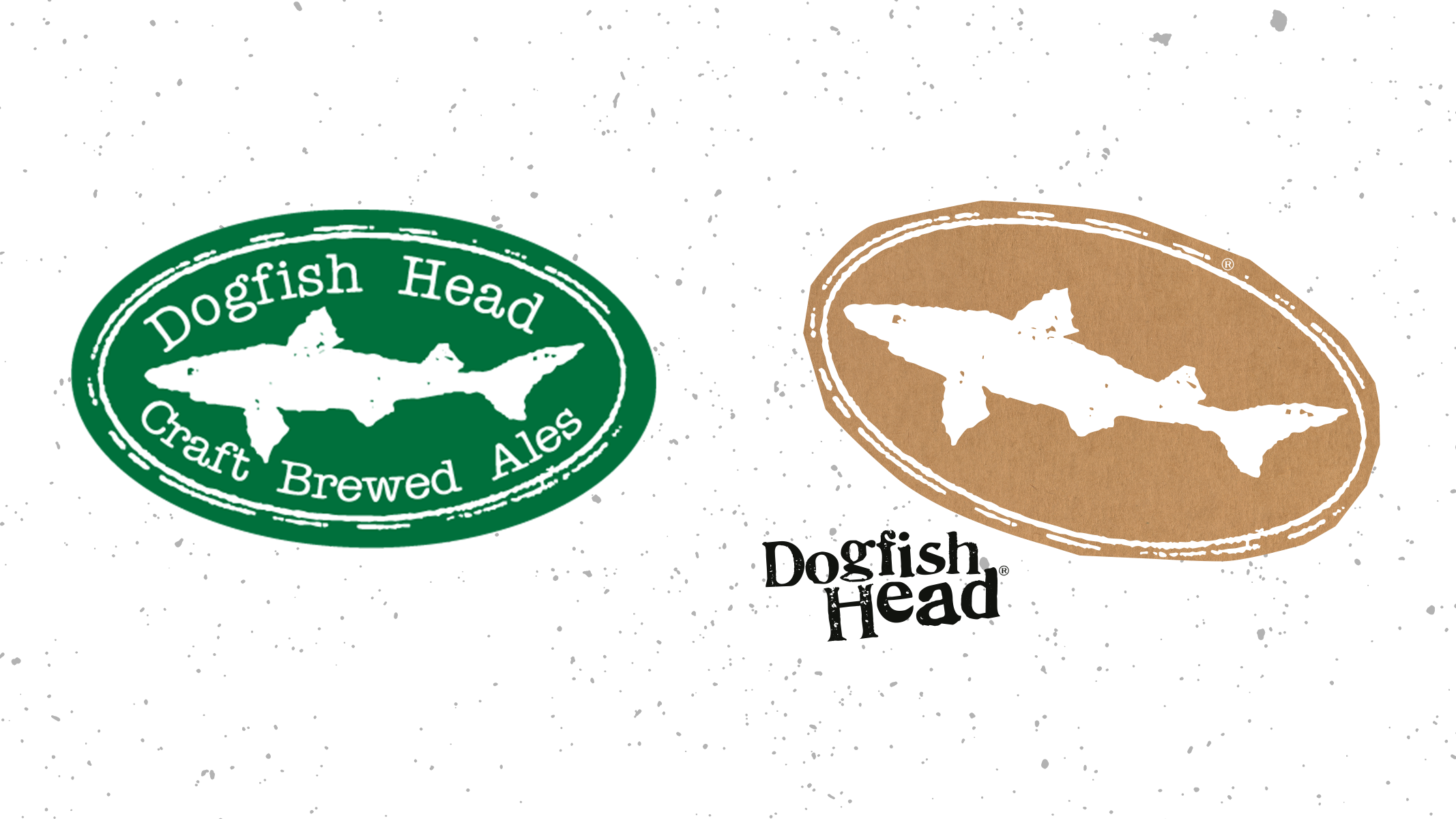 Dogfish Head logo before and after.