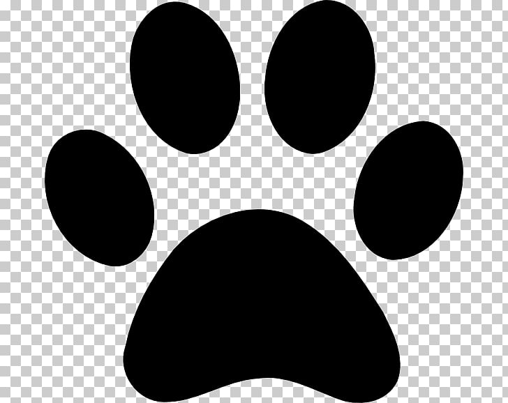 Dog Paw Cat , footprint PNG clipart.
