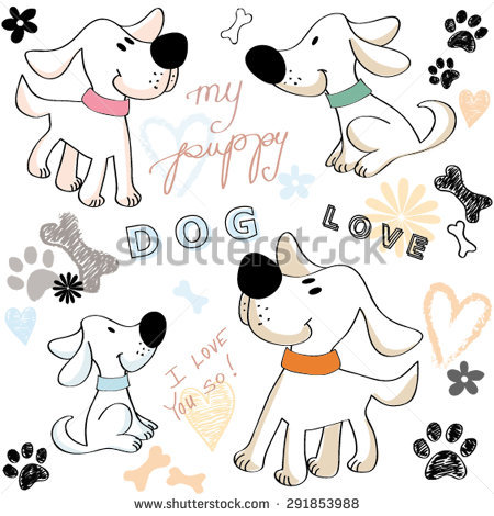Dog Drawing Stock Photos, Royalty.