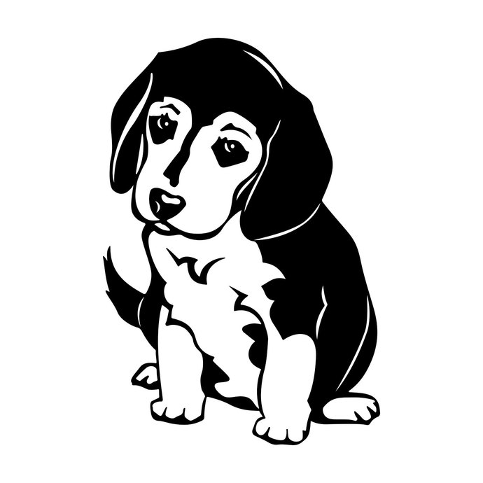 Beagle Dog graphics design SVG, DXF, EPS, Png, Cdr, Ai, Pdf Vector Art,  Clipart instant download Digital Cut Print Files T.