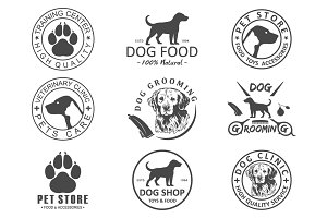dog logo and icons for dog club.