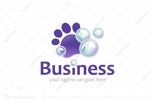 Exclusive Logo 73944, Pet Grooming Logo.