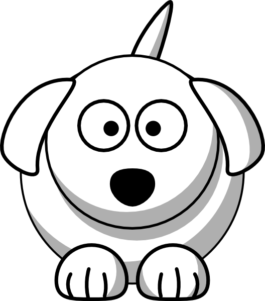 Dog Outline Clipart.