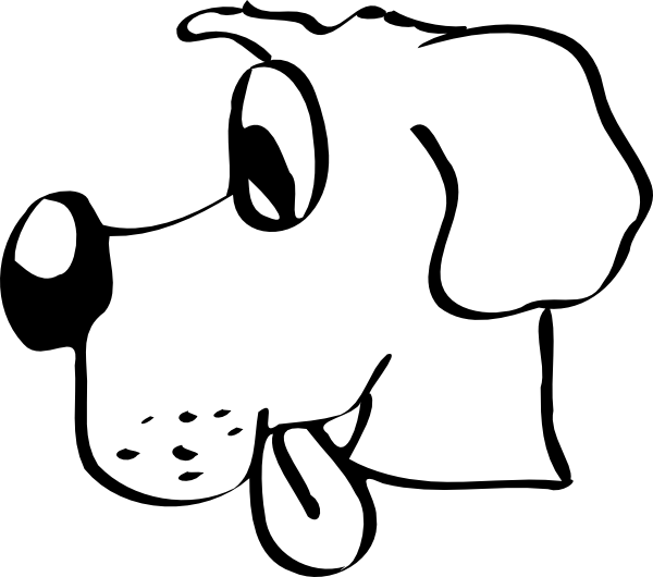 Dog Head clip art Free Vector / 4Vector.