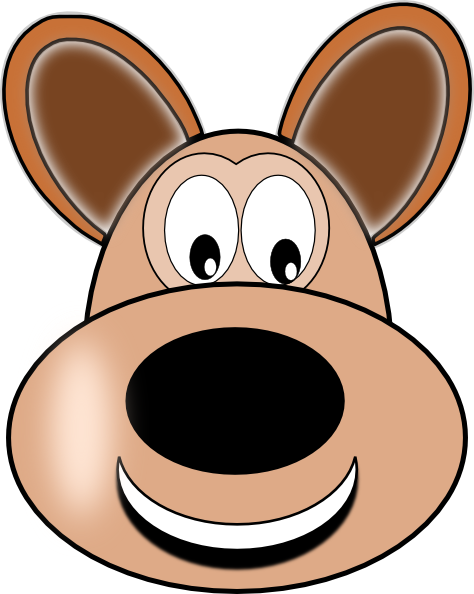 Cartoon Dog Face Clipart.