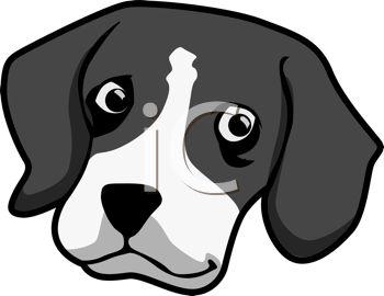 Dog head clip art.