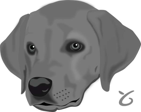 clipart dog head #20